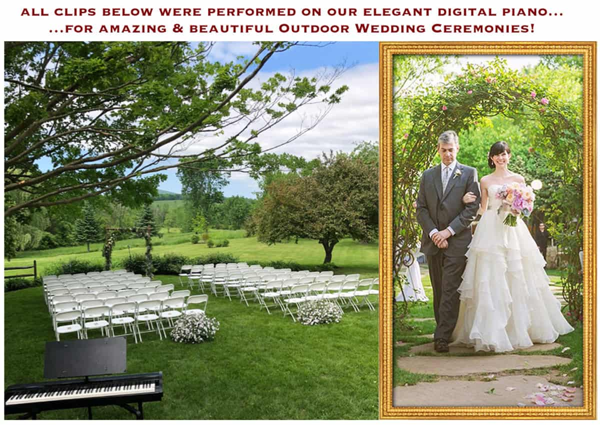 A Beautiful Outdoor Ceremony Accompanied by Beautiful Piano Music!